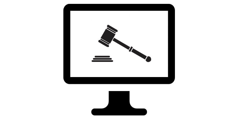 How do I look up an eviction court case online